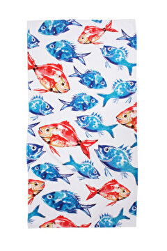 Picture of Biggdesign Anemoss Fish Patterned Beach Towel