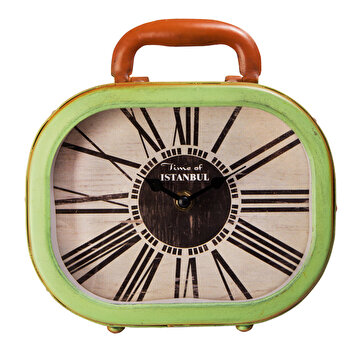 Picture of XOOM Retro Desk Clock Green Suitcase