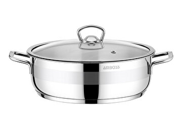 Picture of  Amboss Stone Stainless Steel Stockpot w/ Glass Lid - 24 x 6 cm