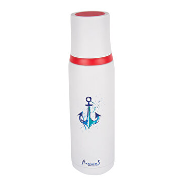 Picture of  AnemosS Steel Thermos with Anchor Pattern, 500 ml