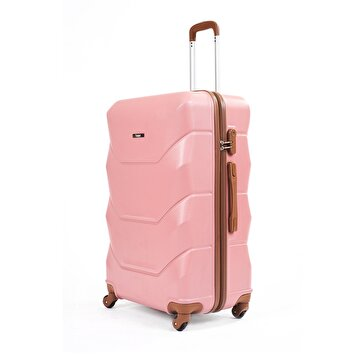 Picture of  Baggaj V318 ABS Large Size Suitcase - Pink