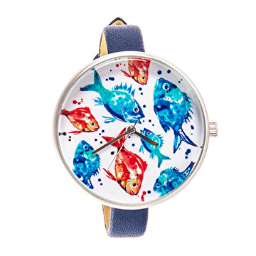 Picture of BiggDesign AnemoSS Aquarium Women's Wrist Watch, Leather Belt, Special Design by Turkish Designer