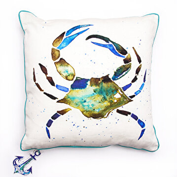 Picture of BiggDesign AnemoSS Green Crab Pillow by Turkish Artist, 40x 40cm