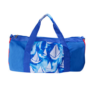 Picture of  BiggDesign AnemosS Sailing Patterned Navy Blue Cylindrical Sport Bag