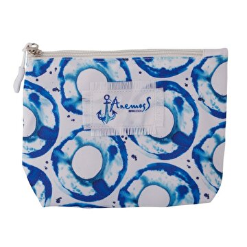 Picture of Biggdesign AnemosS Tide Make Up Bag by Turkish Artist, Cosmetic Make-up Case, with Zipper Closure