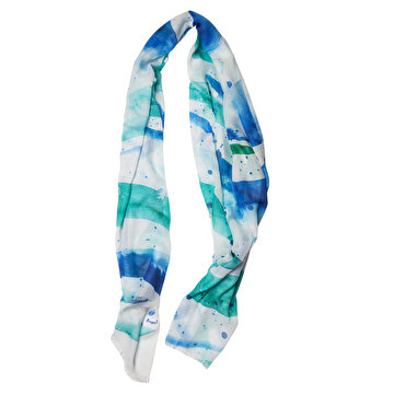 Picture of Biggdesign AnemosS Wave Scarf, 100% Cotton, Special design by Turkish Artist