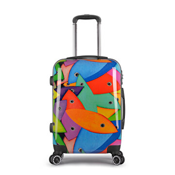 "Picture of BiggDesign Fertility Fish Medium Size Suitcase 24"", designed by Turkish Designer,"