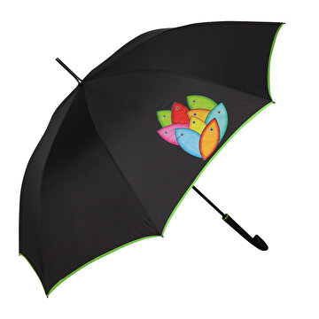 Picture of  Biggdesign 'Fertility Fish' Walking Stick Umbrella, Black
