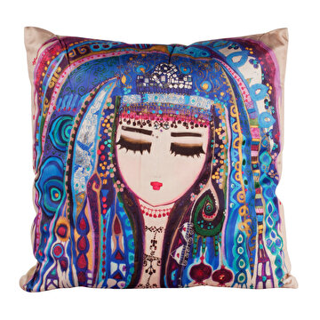 Picture of BiggDesign Blue Water Pillow by Turkish Artist, 45x 45cm