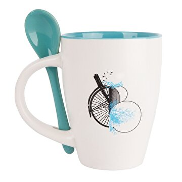 Picture of Biggdesign Nature Blue Kaşıklı Ceramic Cup With Spoon