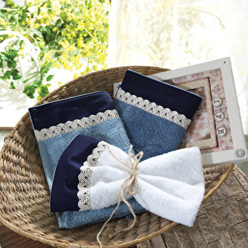 Picture of Ecocotton Alex White 100% Original Turkish Cotton Kitchen Towel Set, 30*50 Cm