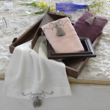 Picture of Ecocotton Emily White  100% Original Turkish Cotton Kitchen Towel Set, 30*50 Cm