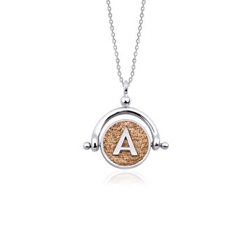 Picture of Tash Design A Letter Silver Necklace