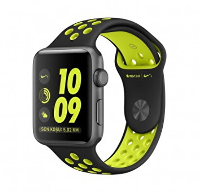 Picture of Apple Watch Nike+ 42 mm Uzay Grisi Alüminyum Kasa Siyah/Volt Nike Spor Kordon MP0A2TU/A