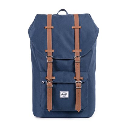 Picture of Herschel Little America Navy/Tan Synthetic Leather Sırt Çantası