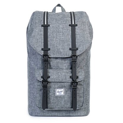 Picture of Herschel Little America Raven Crosshatch/Black Rubber/3M ınsert Sırt Çantası