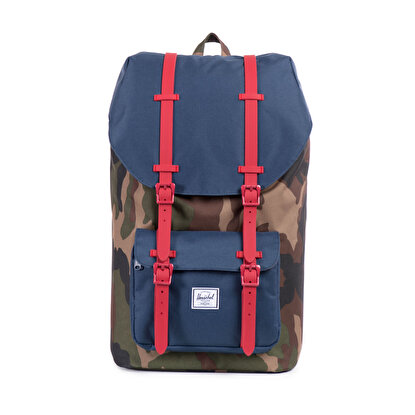 Picture of Herschel Little America Woodland Camo/Navy/Red Rubber Sırt Çantası