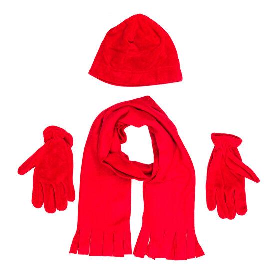 Bigg Polar Atkı-Bere-Eldiven Set Kırmızı
