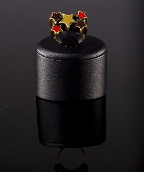 Biggbijoux Akhyls Yıldız Yüzük-Bakır Renkli