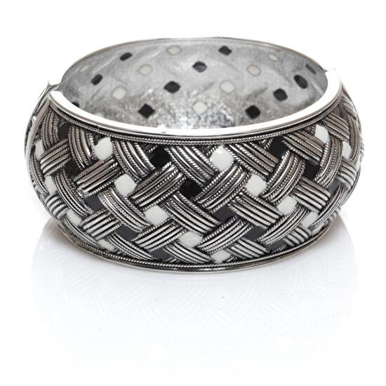 Biggbijoux Hathor Hasır Kelepçe-Gümüş Renkli