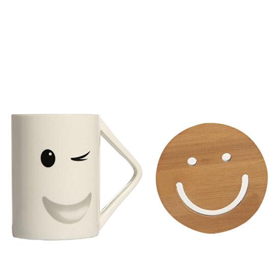 Biggmug Smiley Göz Kırpan Surat Kupa Seti