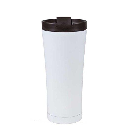 Biggmug Vakumlu Beyaz Çelik Mug 470 Ml