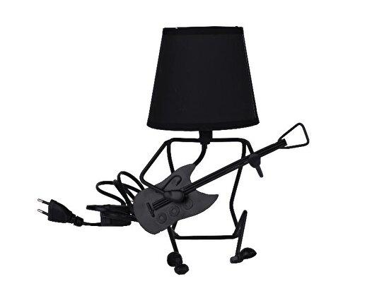Equinoxe Gitarlı Masa Lambası Siyah