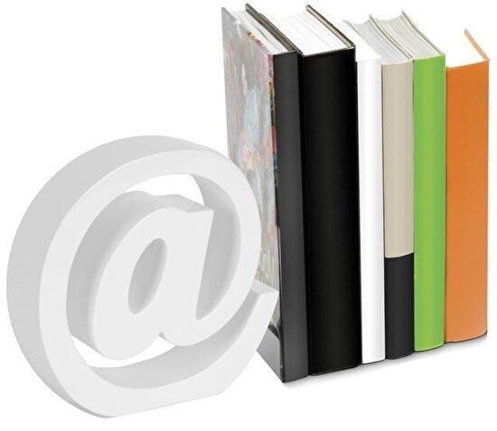 Nektar 24561 Kitap Tutucu Ahşap Beyaz