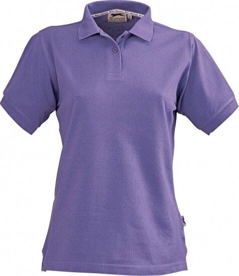 Slazenger 33S03352 Bayan Polo T Shirt - Mor Renk