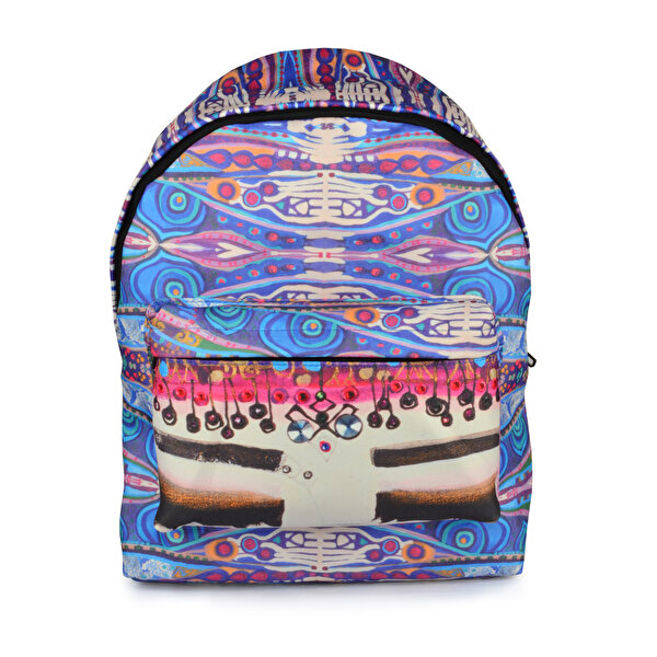 Picture of BiggDesign Blue Water Backpack patterned with Evil Eye Symbols Backpack