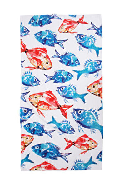 Picture of  Biggdesign Anemoss Beach Towel With Fish Pattern