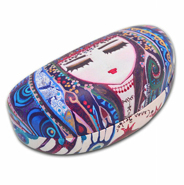 Picture of BiggDesign Blue Water Glasses Case, Soft Slip In Eyeglass Case For Women