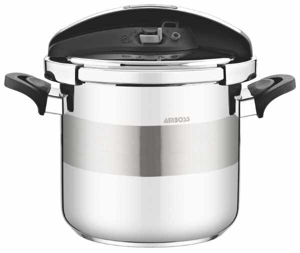 Picture of  Amboss Matik Stainless Steel Pressure Cooker 7 Liter - Black