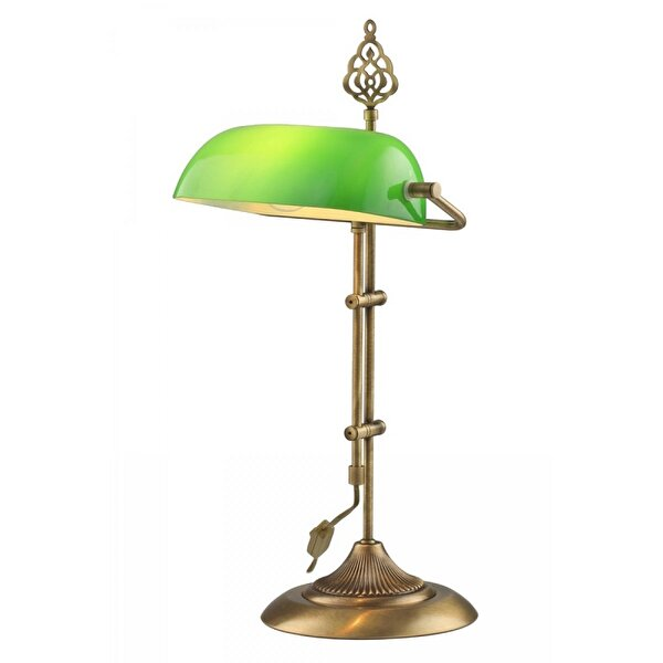 Picture of  Avonni ML-9063-GREEN Painted Table Lamp