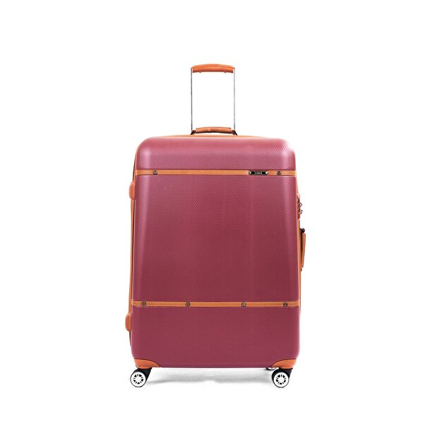 Picture of  Baggaj V209 ABS Large Size Suitcase - Claret Red