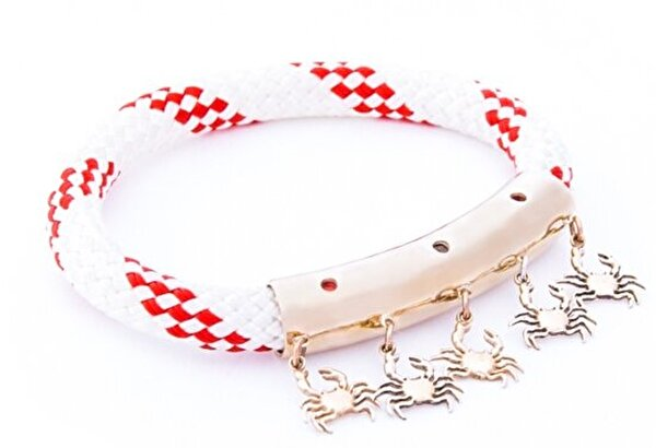 Picture of BiggDesign AnemosS Crab Detailed Rope Bracelet - Red