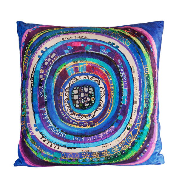 Picture of BiggDesign Evil Eye Pillow by Turkish Artist, 45x45 cm