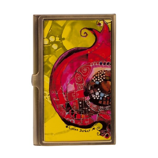 Picture of  BiggDesign Pomegranate Card Holder, Evil Eye Collection by Turkish Designer