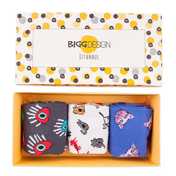 Picture of Biggdesign Woman Socks Set, 100% cotton, Designed by Turkish Artist