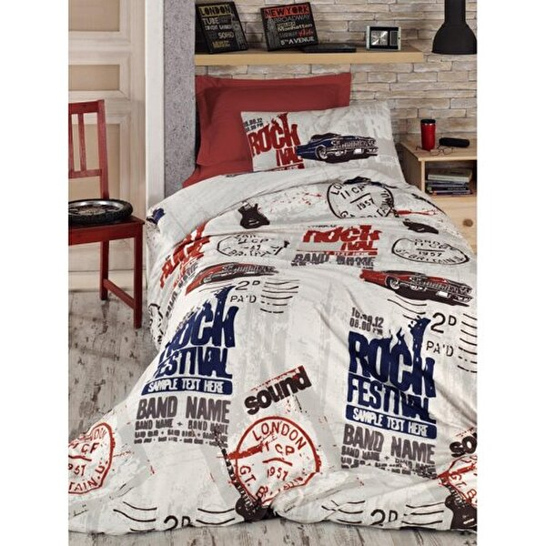 Picture of Gold Case Young Series Single Size Duvet Set - Rock