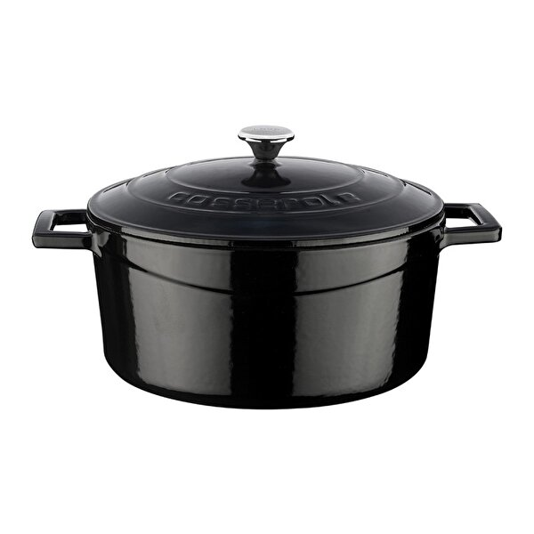 Picture of  Lava Cast Iron Casserole 22 cm Black Round Pot with Lid