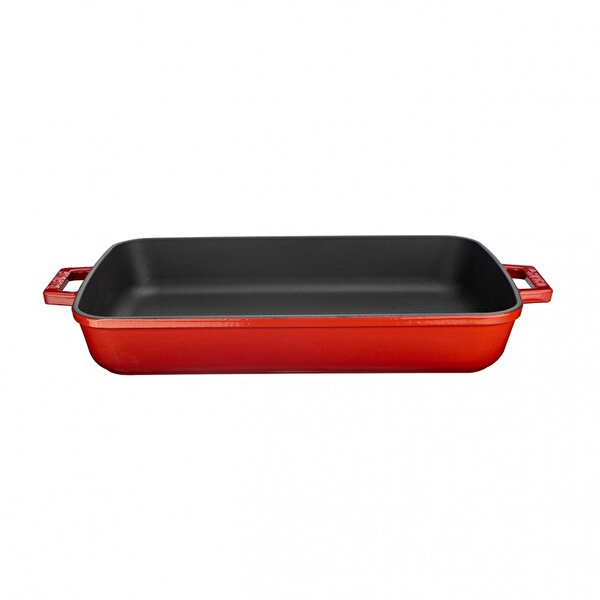 Picture of  Lava Cast Iron Casserole 22 x 30 cm cm Red Tray for Owen and Grill