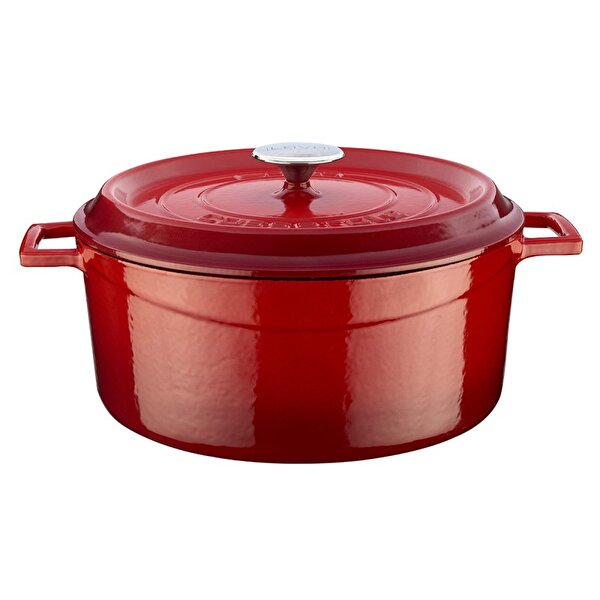 Picture of  Lava Cast Iron Casserole 28 cm Red Round Pot with Lid