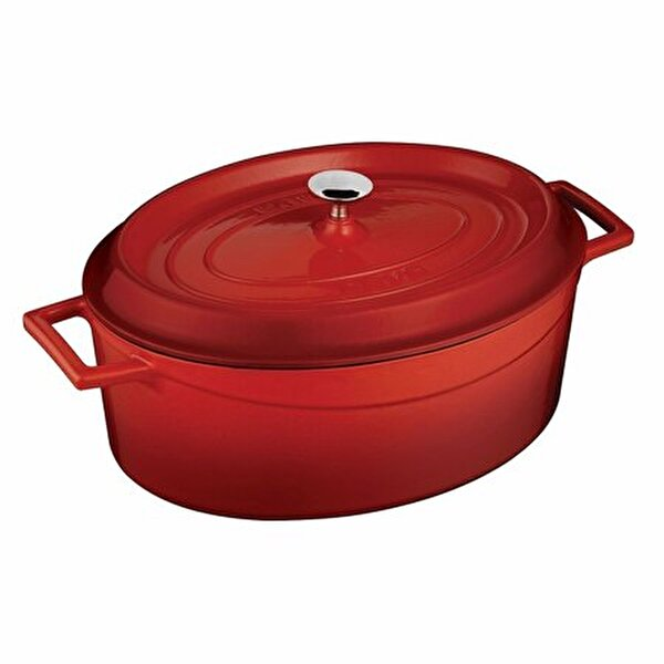 Picture of  Lava Cast Iron Oval Dutch Oven with Lid - 21 x 27 cm - 3,9 liter