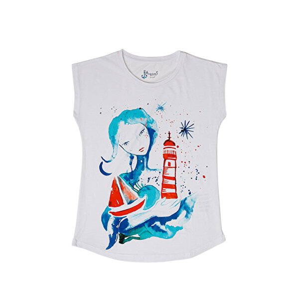 Picture of BiggDesignAnemoSS The Girl with Lighthouse Women's T-Shirt