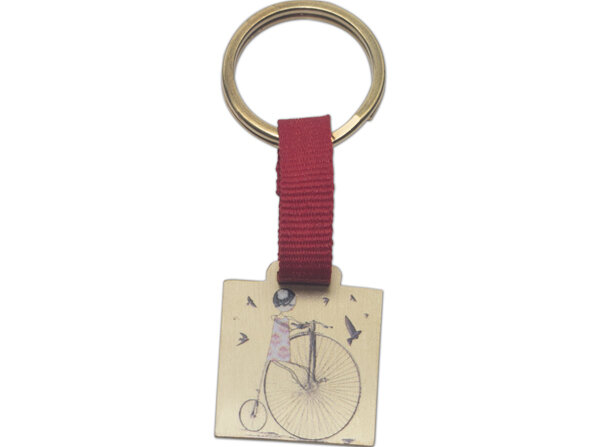 Picture of BiggDesign Bicycle Girl Keychain