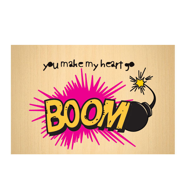 Picture of BiggDesign Boom Wooden Postcard
