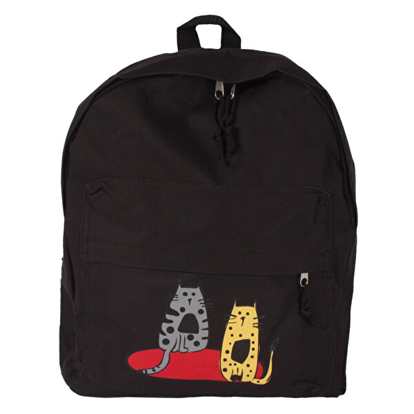Picture of   Biggdesign Cats Black Medium-Size Backpack