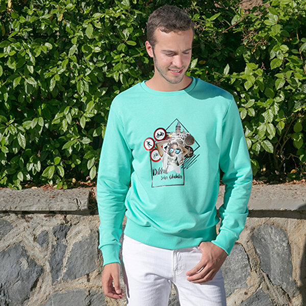 Picture of BiggDesign Nature Station Man Sweatshirt By Aysu Bekar