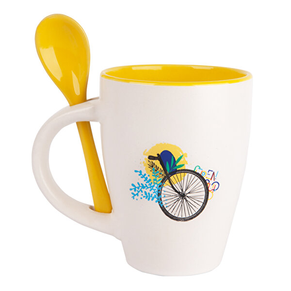 Picture of Biggdesign Nature Yellow Ceramic Mug and Spoon